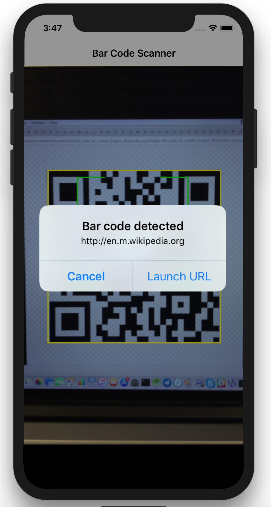 Native Bar Code Scanning in iOS